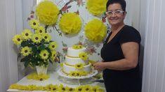 Aula 25 - Mesa Amarela(1/3) Como fazer arranjo de flores de papel crepom...