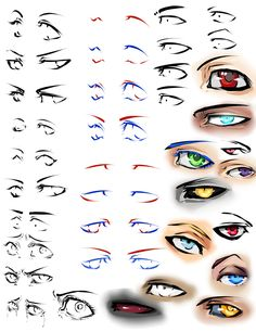 More anime eyes and tips by moni158.deviantart.com on @deviantART