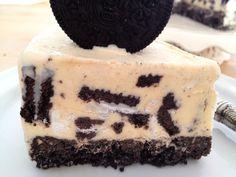 Tarta helada de vainilla y galletas Oreo Oreos, Chocolates, My Dessert, Cupcakes, No Cook Desserts, Oreo Cheesecake, 20 Min, Food Pictures, Sweet Recipes