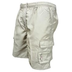Men Multi Pocket Military Cargo Shorts 2018 Summer Cotton Loose Knee L – heavengif Mens Overalls Shorts, Work Shorts, Mens Sweatpants, Casual Shorts, Sport Casual, Men Casual, Military Shorts, Combat Pants, Outdoor Pants