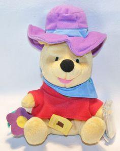 "Winnie The Pooh Ride'em Cowboy Star Bean Plush Disney Beanbag New Stuffed Toy 7"" #Disney"