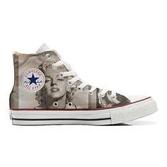 Converse All Star personalisierte Schuhe (Handwerk Produkt) Marilyn Monroe - http://on-line-kaufen.de/make-your-shoes/converse-all-star-personalisierte-schuhe-monroe