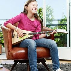 Loog Guitars is driven by a passion for music and sustainable design—and a belief that if kids help build their own instruments, they'll love and respect them for life. Fast Company and Wired are fans—not bad for a label that began on Kickstarter! So get that budding Hendrix her first Loog and tell her to rock on.