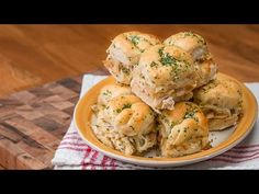 Pesto Chicken Garlic Knot Sliders
