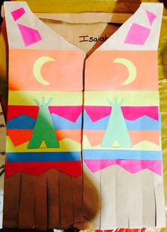 Indian Vest Craft Activities For Kids, Preschool Crafts, Crafts For Kids, Toddler Activities, Thanksgiving Art, Thanksgiving Preschool, Fall Crafts, Holiday Crafts, Pilgrims And Indians