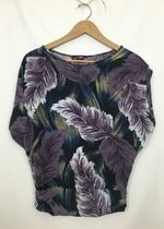 Julie's Closet Purple Tone Feather Blouse!