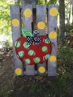 Apple Door Hanger by WhimsyGirlArt on Etsy, $38.00