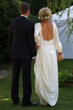 beautiful dress with an open back