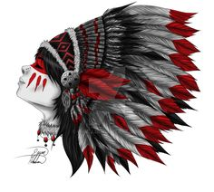 Native by Oh-Ej on DeviantArt Native American Drawing, Native American Tattoos, Native Tattoos, Native American Images, Native American Artwork, Indian Headdress Tattoo, Indian Skull Tattoos, Indian Drawing, Warrior Drawing