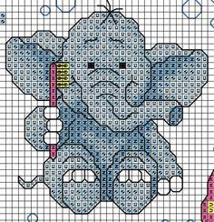 patrón de elefante para baño 1