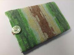 """11インチのノートパソコン用スリーブケース Knit for 11"""" Notebook in Green-Brown Mix"""