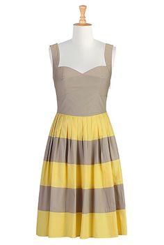 #Her fifties colorblock sundress, #eShakti, #Color Block, $59.95
