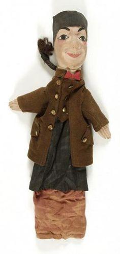 [Sacha GUITRY] Guignol. Marionnette à gaine ancienne, utilisée pa