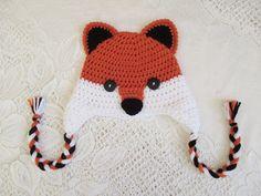 Red Fox Crochet Hat  Wildlife Animals  Winter Hat or Photo