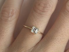 Sparkly and impressive 0.70 carat asscher cut diamond ring. Ring comes with GIA certification. Simple and elegant. Product detail: Gemstone: asscher