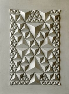 Check out the link for more info on Origami Craft Origami Art Mural, Paper Crafts Origami, Diy Paper, Origami Design, Geometric Origami, Paper Wall Art, 3d Wall Art, Paper Structure, Origami And Quilling