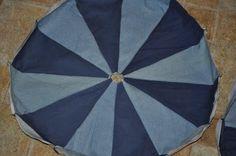 Pouf - DIY Diy Pouf, Diy Ottoman, Old Jeans, Rugs, 2 Step, Blog, Sisters, Home Decor, Shirts