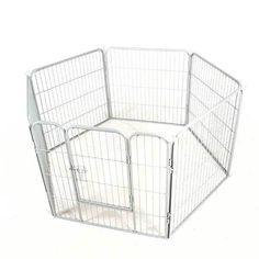 Heavy Duty Dog Pen 6 Panels H80cm Enclosure Play Playpen Whelping Pet Cage
