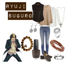 """""""Ryuji Suguro"""" by casualanime ❤ liked on Polyvore featuring Current/Elliott, Equipment, River Island, TOMS, Forever 21, Maria Rudman, Smith/Grey, Inox, Waxing Poetic and OPI"""