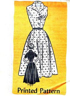 1950s Dress Pattern Mail Order Vintage Sewing by paneenjerez, $18.00