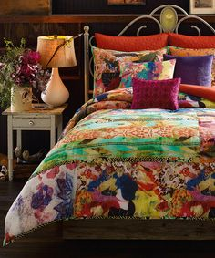 Another great find on #zulily! Bright Watercolor Comforter Set #zulilyfinds