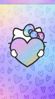 #digitalcutewalls Keroppi Wallpaper, Ipod Wallpaper, Fairy Wallpaper, Pretty Phone Wallpaper, Heart Wallpaper, Love Wallpaper, Purple Wallpaper, Hello Kitty Backgrounds, Hello Kitty Wallpaper