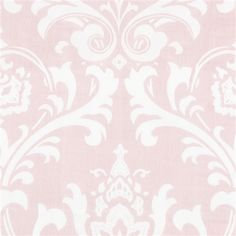 Pink Osborne Damask Fabric By The Yard