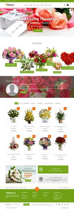Welldone is responsove premium #Drupal eCommerce Theme comes with 18 premade stunning homepage layouts. #flowershop #website
