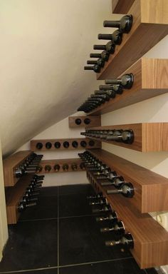 31 Relaxing Diy Garage Storage Organization Ideas – My World Wood Wine Racks, Wine Rack Wall, Wine Wall, Wine Rack Design, Wine Cellar Design, Diy Garage Storage, Wine Storage, Storage Organization, Storage Area
