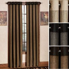 """Harrison Grommet Curtain Panels- 96"""" in 'mercury' for Great Rm"""
