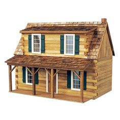 Real Good Toys Adirondack Cabin Dollhouse Kit - 1 Inch Scale