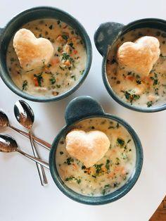 Slow Cooker Chicken Pot Pie Soup - low maintenance creamy winter comfort food, made from scratch! #chickenpotpie #slowcooker #soup #crockpot #recipe | pinchofyum.com
