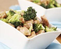 Poulet aux amandes et brocolis : http://www.fourchette-et-bikini.fr/recettes/recettes-minceur/poulet-aux-amandes-et-brocolis.html