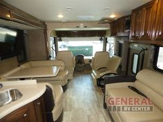 Modern And Classy Decor With Plenty Of Seating And Room To Enjoy Traveling In The New 2017 Thor Motor Coach Palazzo 33.2 Motor Home Class A - Diesel at General RV | Dover, FL | #139011