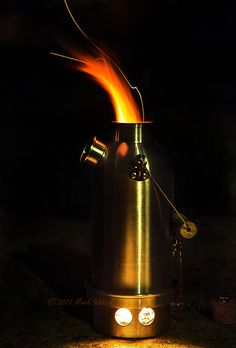 Storm kettle at night.