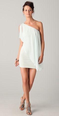 white draping over white in true Greek Goddess style