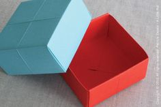 How To Make a Paper Gift Box... by alittlehut.blogspot.com there is a link to how to fold one sans cutting, really good video tutorial!