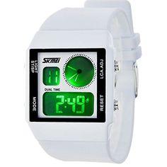 ufengke® paar paar liebhaber kreativer rechteck zifferblatt leuchtende elektronische armbanduhren,dualzeit wasserdicht handgelenk armbanduhren,weiß - http://uhr.haus/ufengke-sports/ufengke-paar-paar-liebhaber-kreativer-rechteck-3