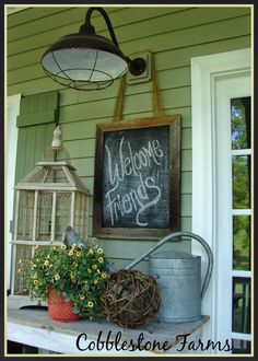 Sweet Country Life ~ Simple Pleasures ~ cute porch combo