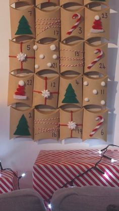Artificial fir tree as Christmas decoration? A synthetic Christmas Tree or even a real one? Lovers of artificial Christmas decorations , such as Christmas tree or artificial Advent wreath know the adv Christmas Calendar, Christmas Art, Simple Christmas, Diy Christmas Gifts, Christmas Decorations, Christmas Ornaments, Christmas Wreaths, Homemade Advent Calendars, Advent Calendars For Kids