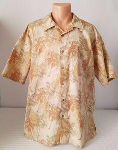 Mens Lee Tropical Hawaiian Button Down Short Sleeve Shirt Size XL #Lee #ButtonFront