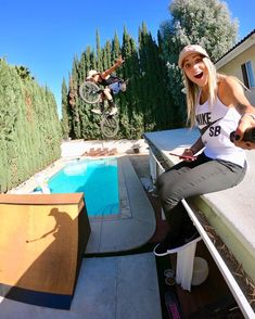 """65.8k Likes, 197 Comments - Leticia Bufoni (@leticiabufoni) on Instagram: """"That's my face when @tylerfernengel shows up and jumps from the roof into the ramp!  @gopro…"""""""