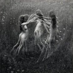 Rare picture of Witches dancing Sky Clad....for obvious reasons, Crones did not participate.