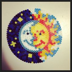 Sun & Moon hama perler beads by pagey163