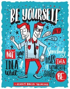BE YOURSELF by Matthew Taylor Wilson Inspirational Quote