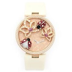 Cartier Rose Gold Coccinelles Diamond Wristwatch