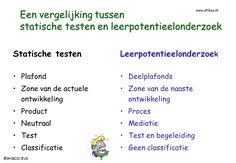 Een vergelijking tussen statische testen (IQ) en leerpotentieelonderzoek - leerpotentieel-test, StiBCO