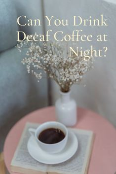 I used to indulge in evening coffee, especially after dinner, even if it cost me a few hours of sleep. Recently, I decided to switch to decaf to cut down on all that caffeine. I began to wonder if it's ok to drink decaf coffee at night or in the evening since it had so little caffeine. Seemingly, I wasn't losing any sleep since I started drinking decaf, but I wanted to do some research to find out more. #coffee Coffee Cream, Coffee Type, Black Coffee, Types Of Coffee Beans, Different Types Of Coffee, Coffee Canister, Decaf Coffee, Coffee Accessories, Coffee Drinkers