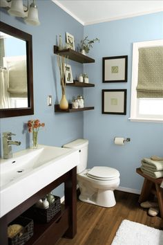 SW Languid Blue. Paint color for basement bath.