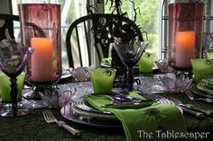 Arachnid Phobic Beware. A chilling tablescape complete with spiders!